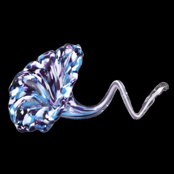 Long Curl Flower Unity Glass Keepsake - Purple Rain