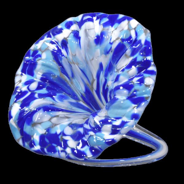 Short Curl Flower Unity Glass Keepsake - Coastal Waters