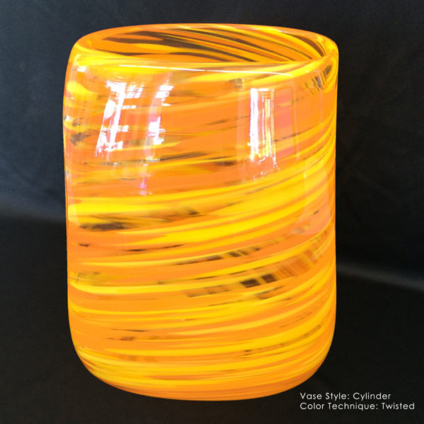 Cylinder unity vase twisted color technique