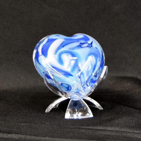 Blue Unity Glass Heart